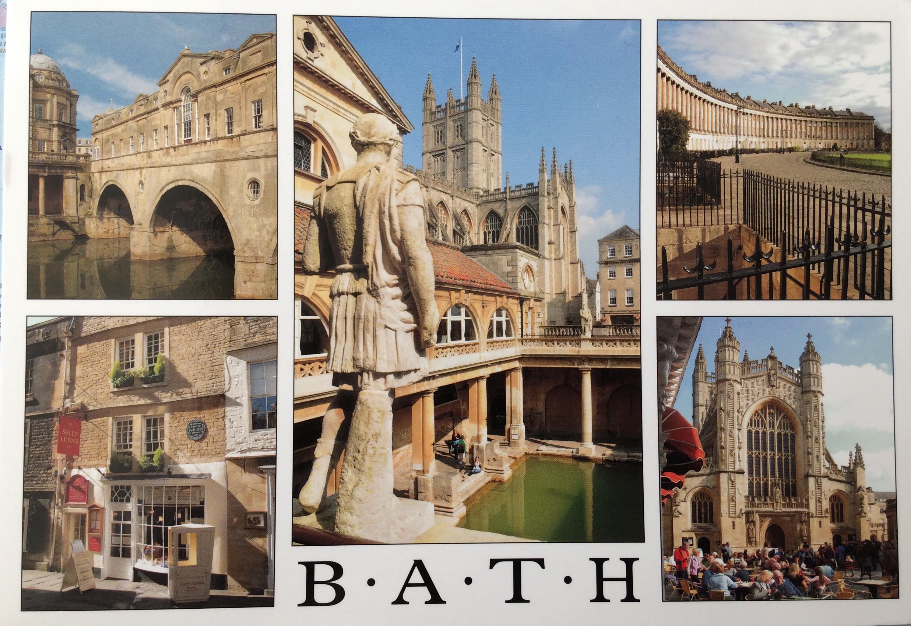 Bath (toll roads & rus in urbe) – Geography Cat\'s Project Postcard